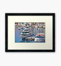 Forty Love super yacht, Halki  Framed Print