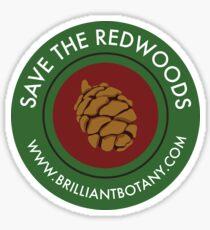 Save the Redwoods Sticker Sticker