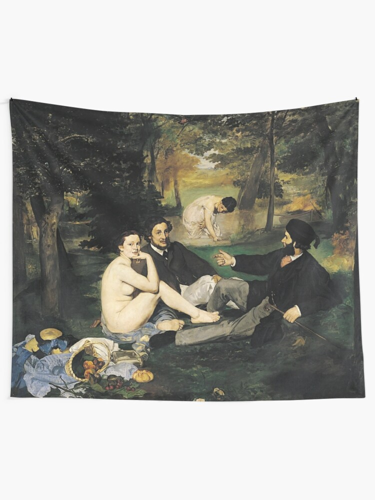 Alternate view of Edouard Manet Luncheon on the Grass Tapestry
