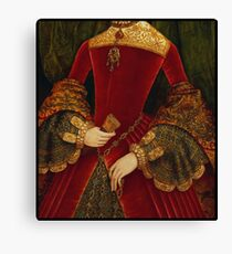Opulent elaborately embroidered Historical Fashion costume detail Canvas Print