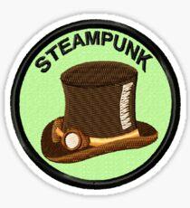 Steampunk Geek Merit Badge Sticker