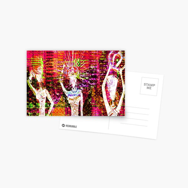 African Supremes Abstract Postcard