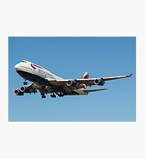 British Airways 747 Photographic Print