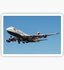 British Airways 747 Sticker