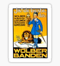 Funny vintage Dutch bicycle tyres (tires) advertisement Sticker