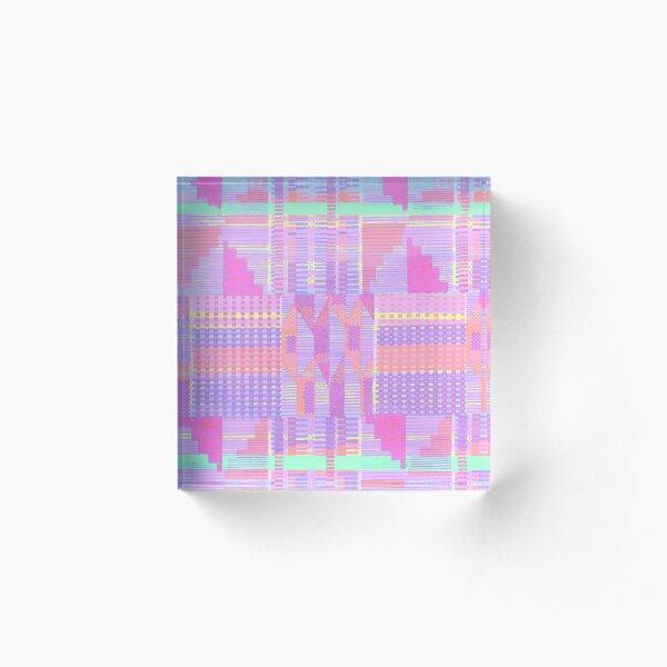 Pastel Pink Kente  Acrylic Block