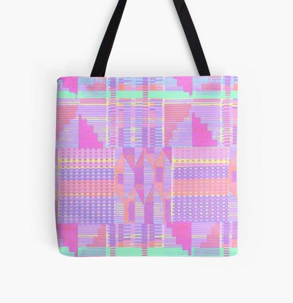 Pastel Pink Kente  All Over Print Tote Bag