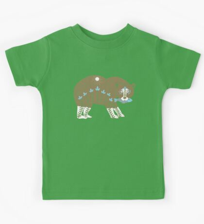 Folk Art Spirit Bear with Fish Kids Clothes