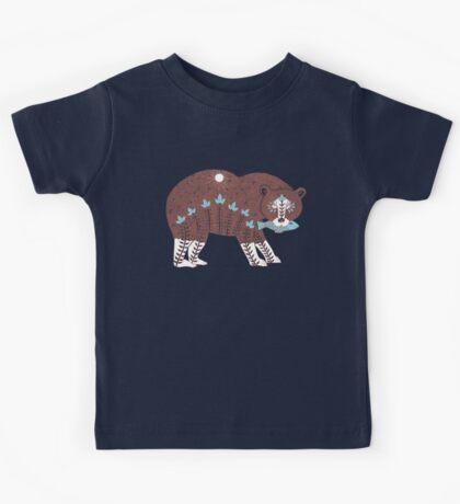 Folk Art Spirit Bear with Fish Kids Clothes