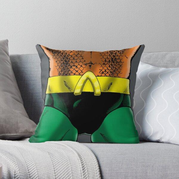 """""""Aquatic Dude"""" Groin Throw Pillow"""