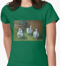 Free Range Silkies Womens Fitted T-Shirt