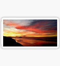 Papamoa Beach Sunset Sticker