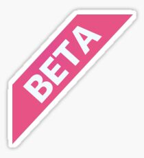 Beta Ribbon Sticker