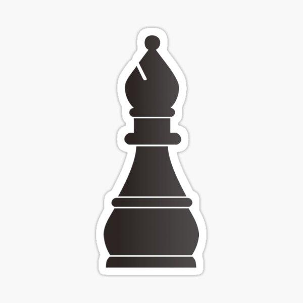 Black bishop chess piece Sticker