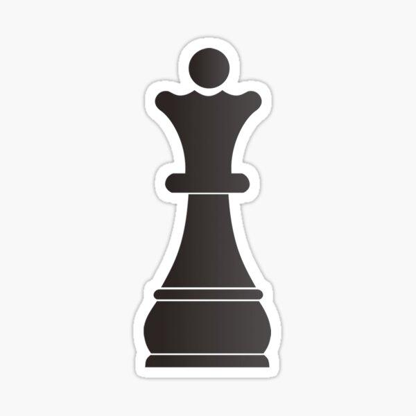 Black queen chess piece Sticker