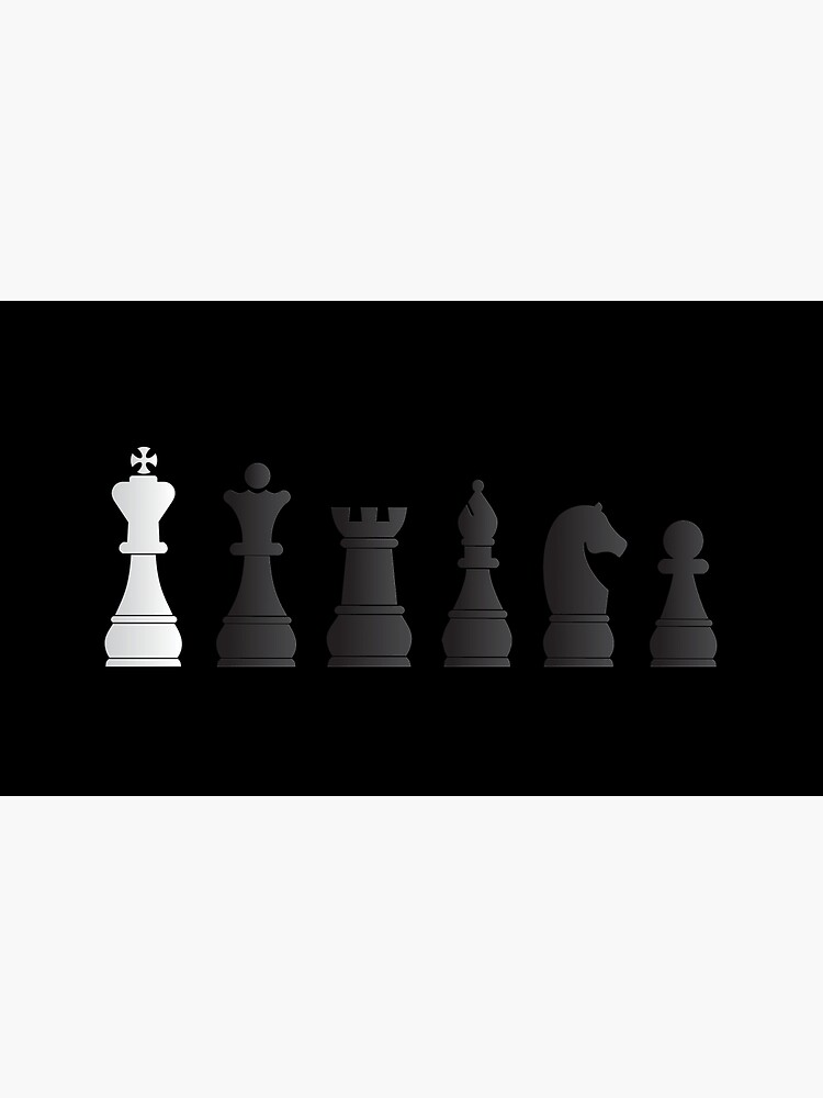 All black one white chess pieces by peculiardesign