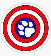 Captain Pupmerica Sticker