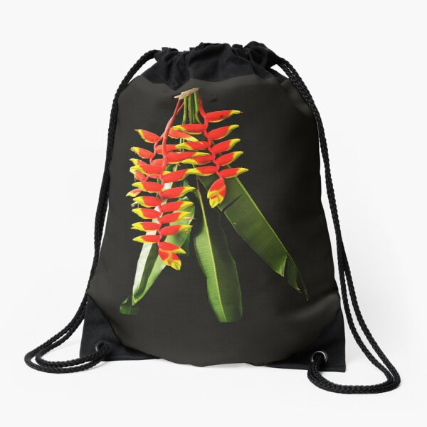 Heliconia Drawstring Bag