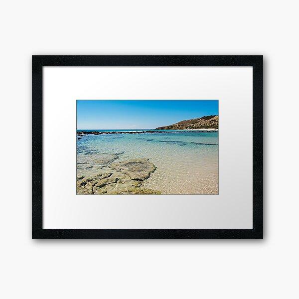 Calm Blue Ocean Kangaroo Island Australia Framed Art Print