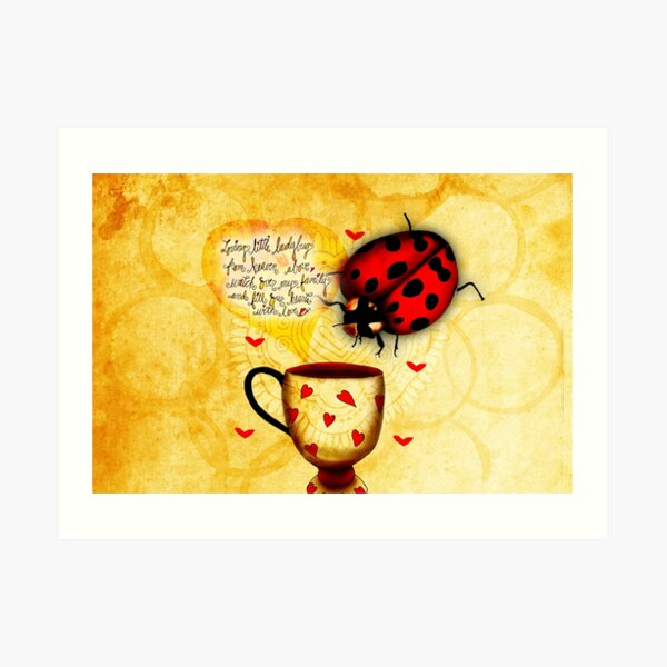 What my Coffee says to me March 4 2016 Art Print