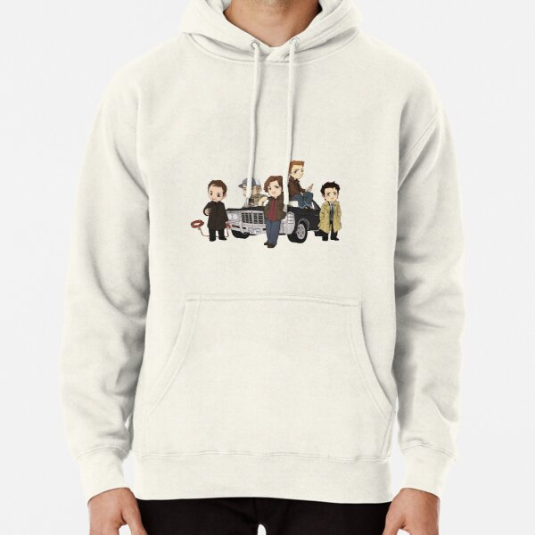 Supernatural Cartoon Design Pullover Hoodie