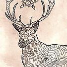 Mandala Deer by shakusaurus