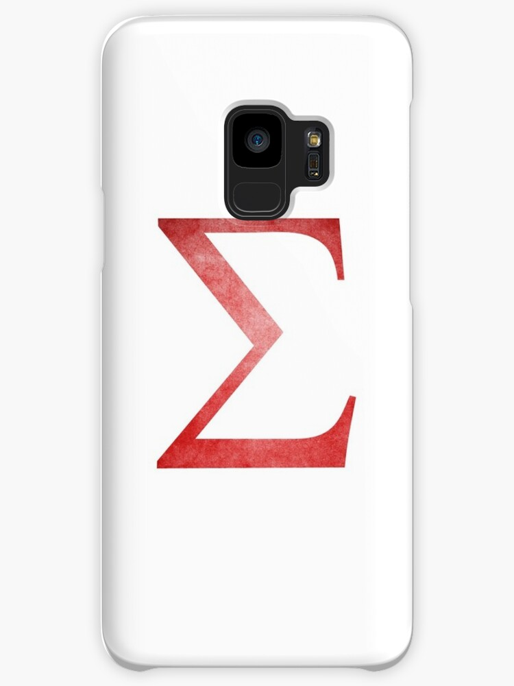 Red Sigma Symbol Cases Skins For Samsung Galaxy By Stevenplease