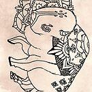 Mandala Bison by shakusaurus