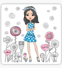 Cute fashion girl  Sticker