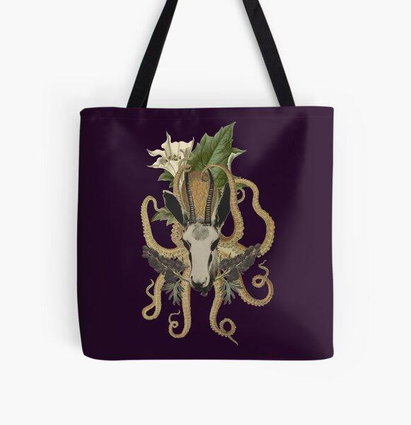 Capra Tentacle (purple) All Over Print Tote Bag