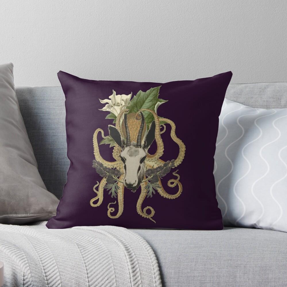 Capra Tentacle (purple) Throw Pillow