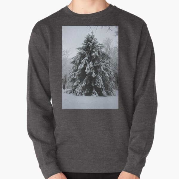 Giant Pine in the Snow  Pullover Sweatshirt