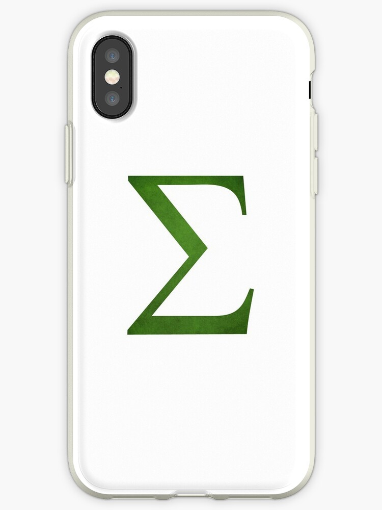 Green Sigma Symbol Iphone Cases Covers By Stevenplease Redbubble