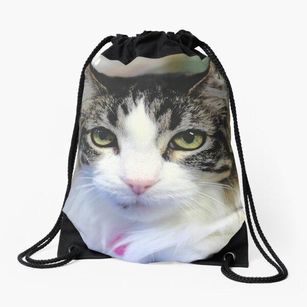Cat Stare  Drawstring Bag