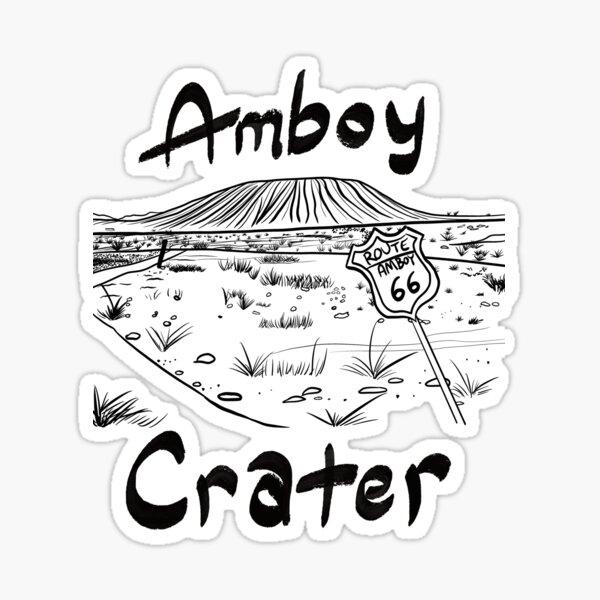 Amboy Crater 5 Sticker