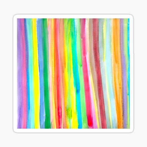Rainbow 2 Multicolor Stripes Sticker