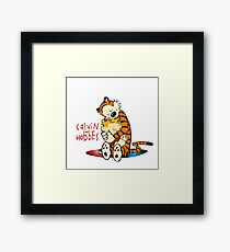 Calvin and Hobbes Big Hugs Nebula  Framed Print
