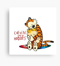 Calvin and Hobbes Big Hugs Nebula  Canvas Print
