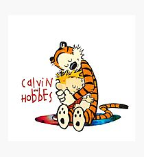 Calvin and Hobbes Big Hugs Nebula  Photographic Print