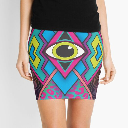 Tribal Eye Mini Skirt