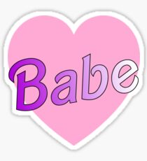 babe sticket Sticker