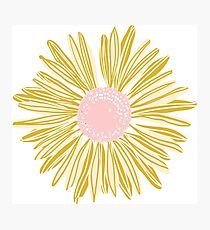 Gold Flower Photographic Print