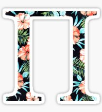 Pi Floral Greek Letter Sticker