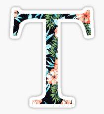 Tau Floral Greek Letter Sticker