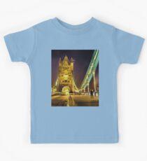 Tower Bridge at night  Kids Tee
