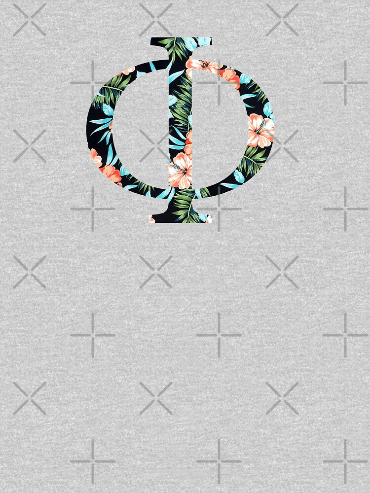 Phi Floral Greek Letter by AdventureFinder