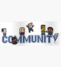 Community Logo with Characters Poster