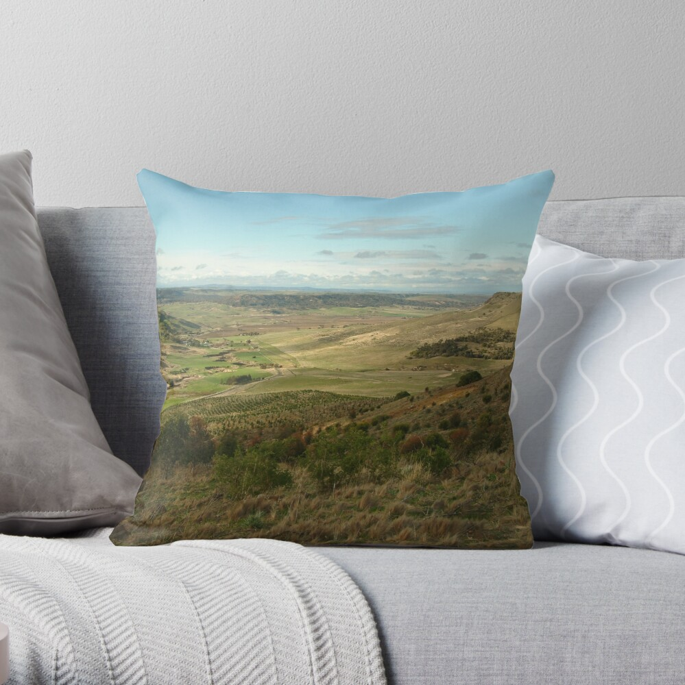 Joe Mortelliti Gallery - Rowsley valley, near Bacchus Marsh, Victoria, Australia.  Throw Pillow