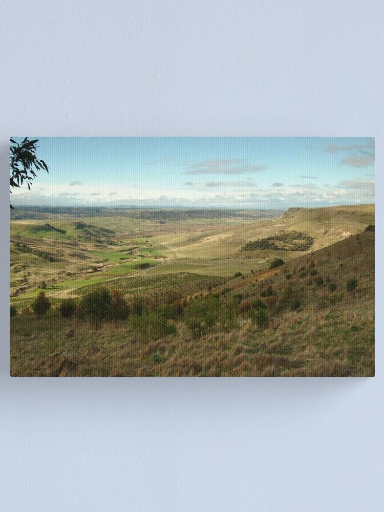 Alternate view of Joe Mortelliti Gallery - Rowsley valley, near Bacchus Marsh, Victoria, Australia.  Canvas Print