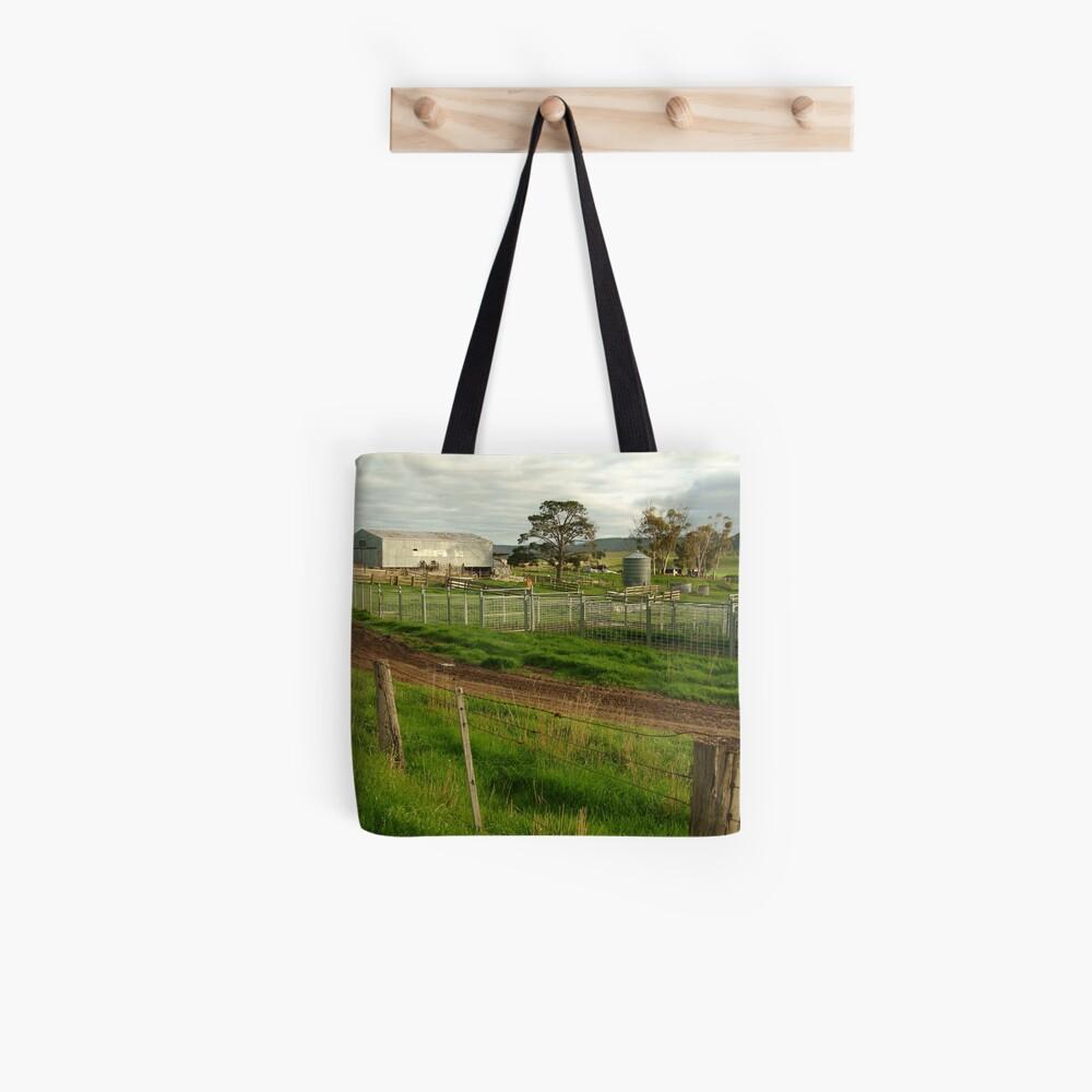 Joe Mortelliti Gallery - Rowsley valley farm, near Bacchus Marsh, Victoria, Australia.  Tote Bag